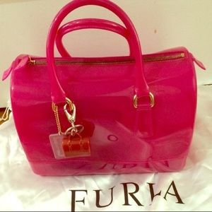 Authentic pink Furla candy bag